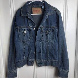 Levi's type one iconic blue denim jacket western